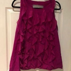 Tops - Fuchsia colored ruffled blouse
